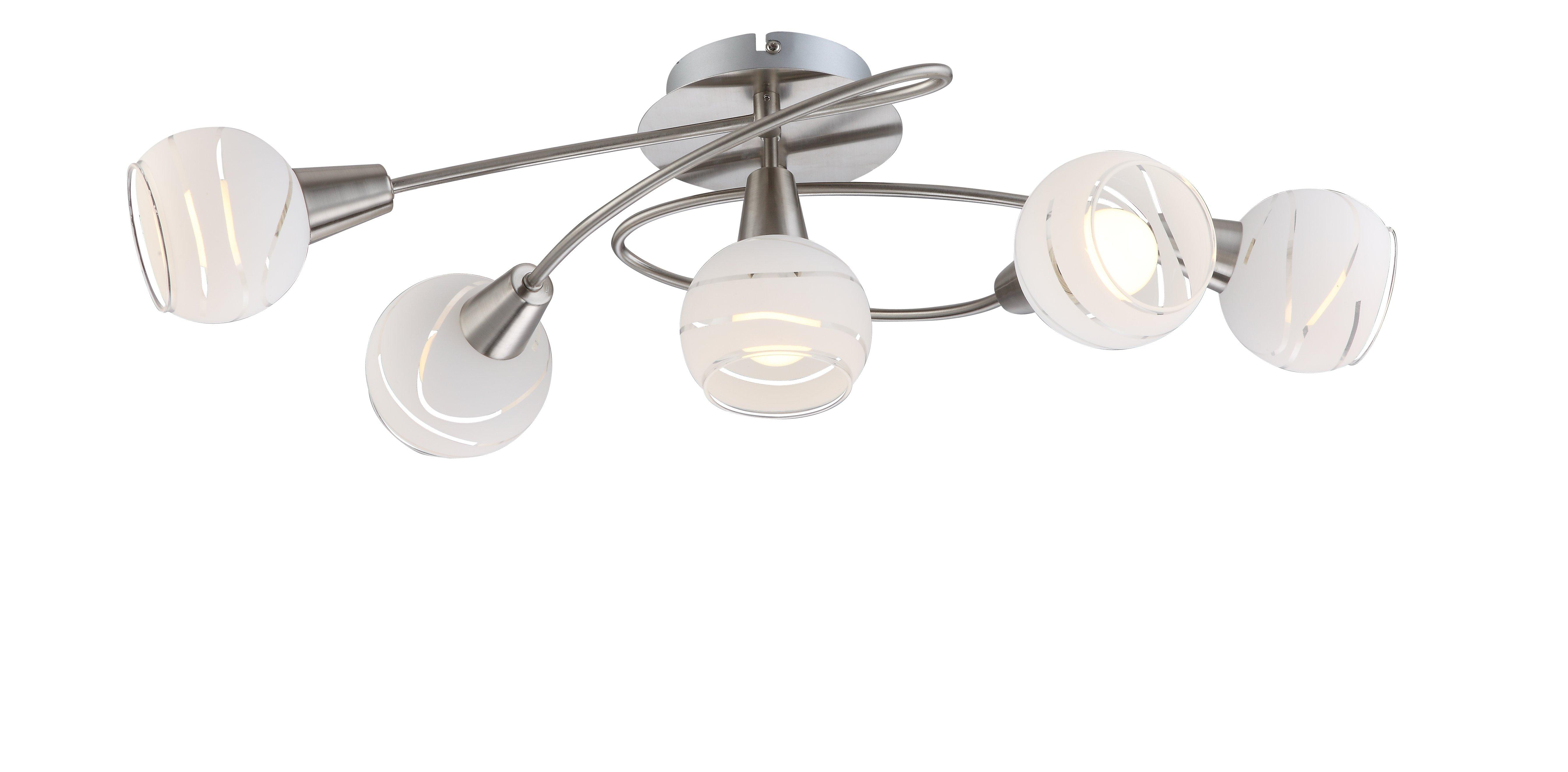 LED-Strahler, 5flg T62_Metall, Metallfarben