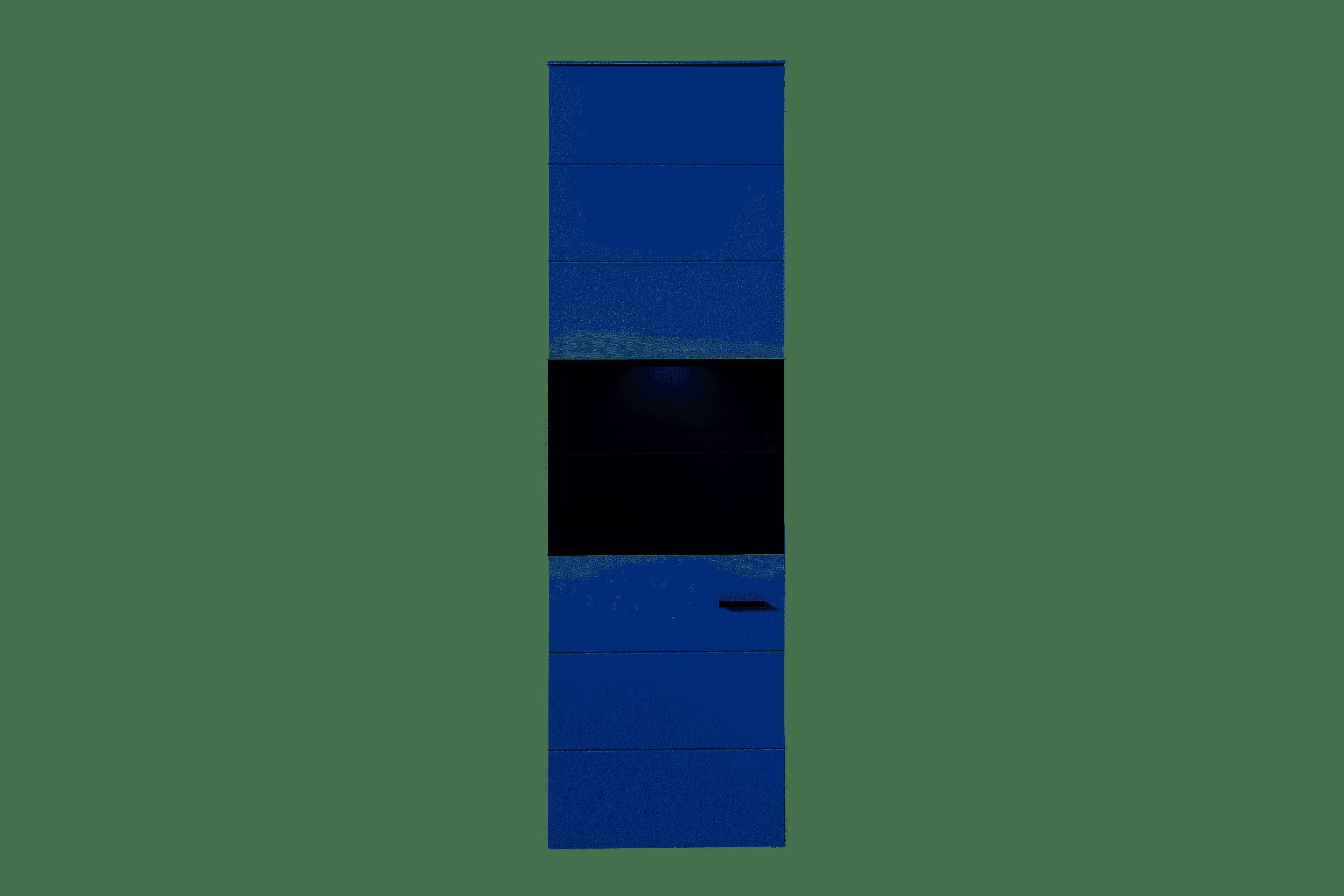 MEDIANA Vitrine m. Bel. weiß matt/graphit matt B/H/T ca. 60/199/36 cm