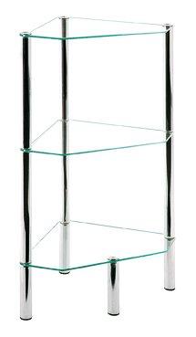 Regal, chrom, Stahl, Glas