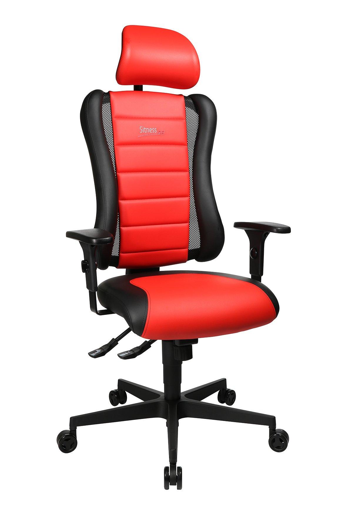 Drehstuhl Sitness RS,schwarz / rot,Kunststoff / Polyamid