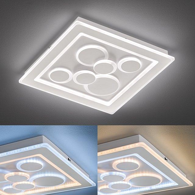 LED Deckenleuchte Ratio | Acrylglas weiß matt