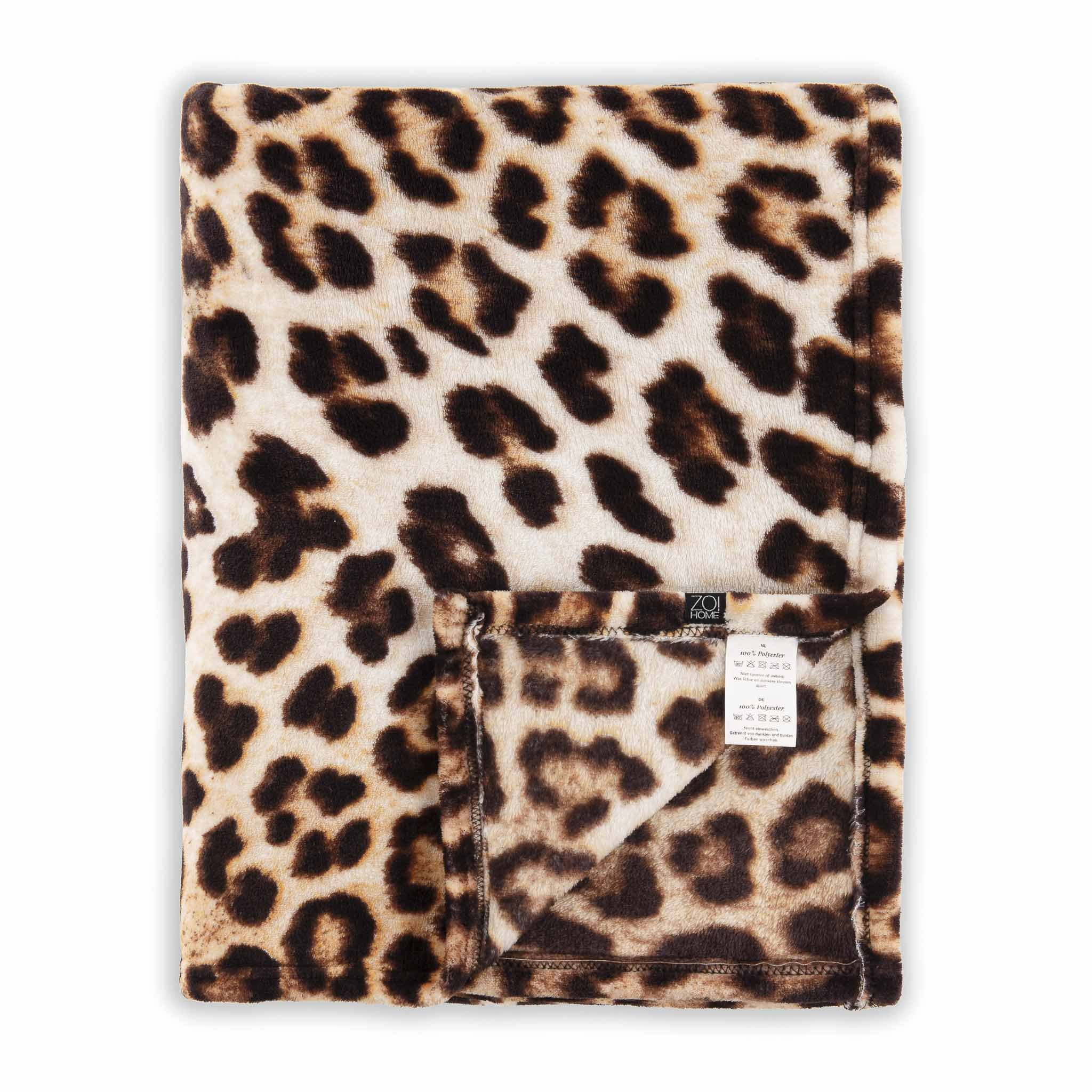 Leopard Plaid 140x200cm Brown