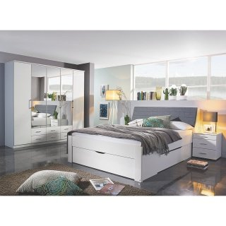 Doppelbett Weiß, hellgrau