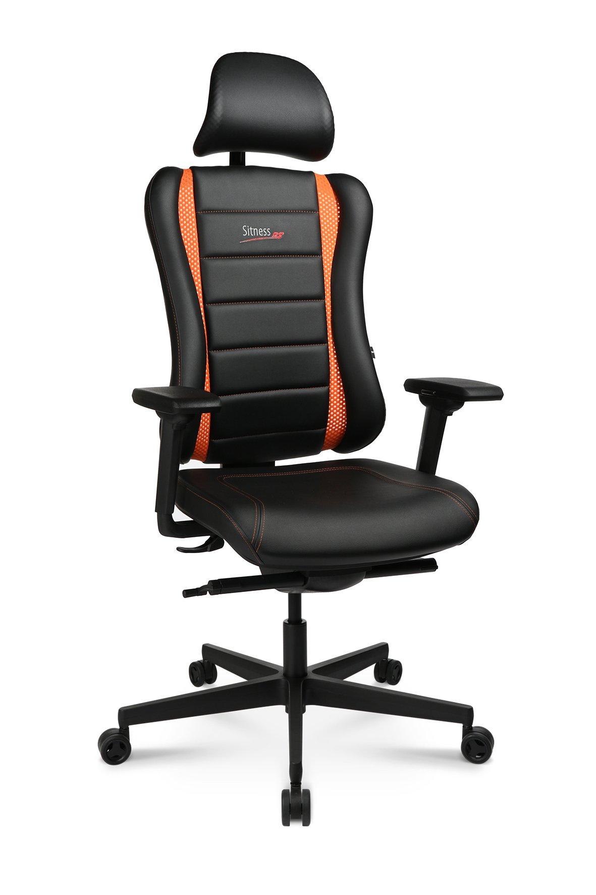 Drehstuhl Sitness RS Pro,schwarz / orange,Kunststoff / Polyamid