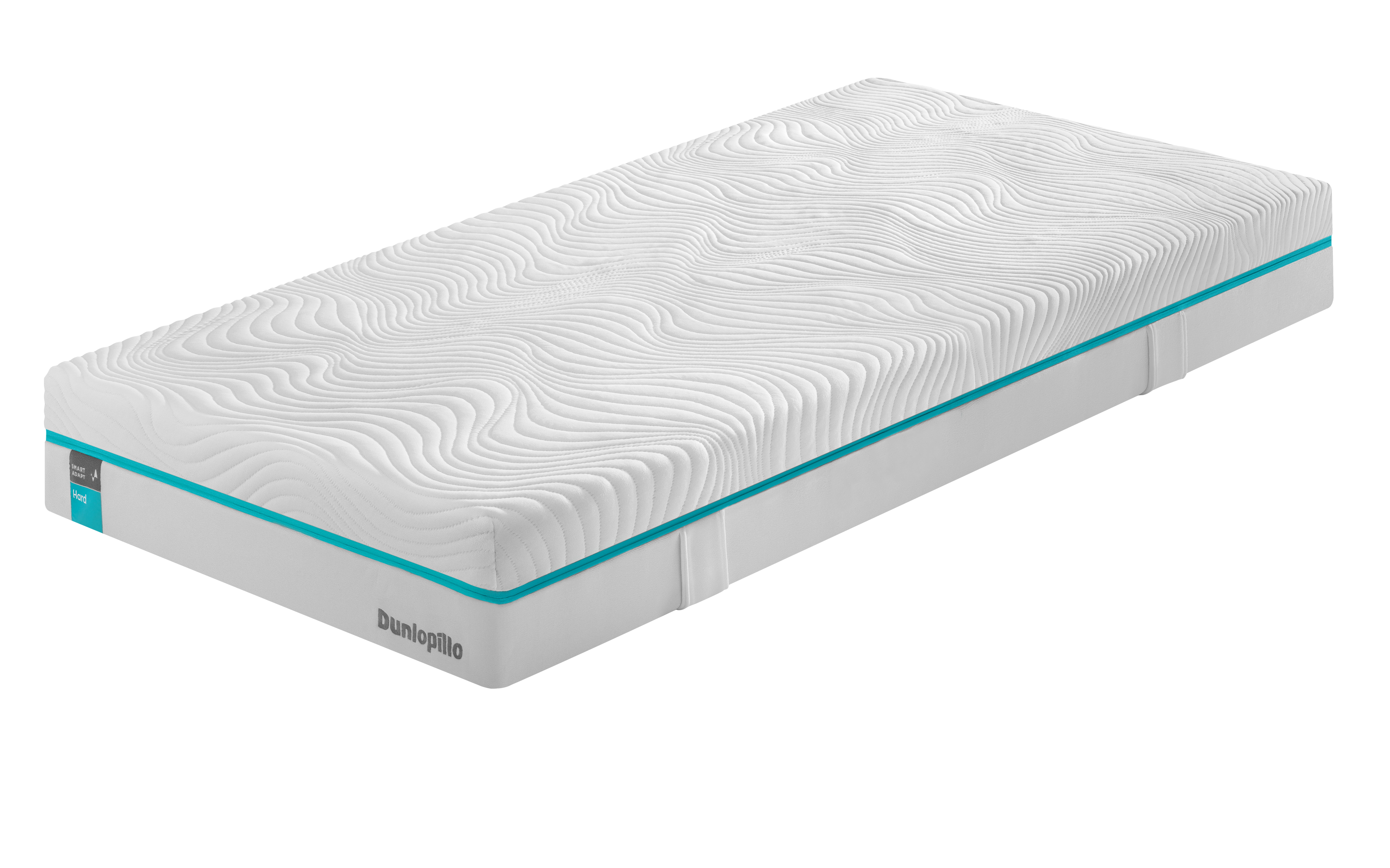 Matratze weiß, blaues Etikett