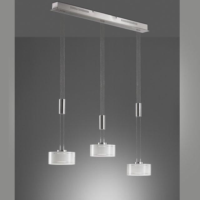 Pendelleuchte Lavin, Metallfarben | Weiß
