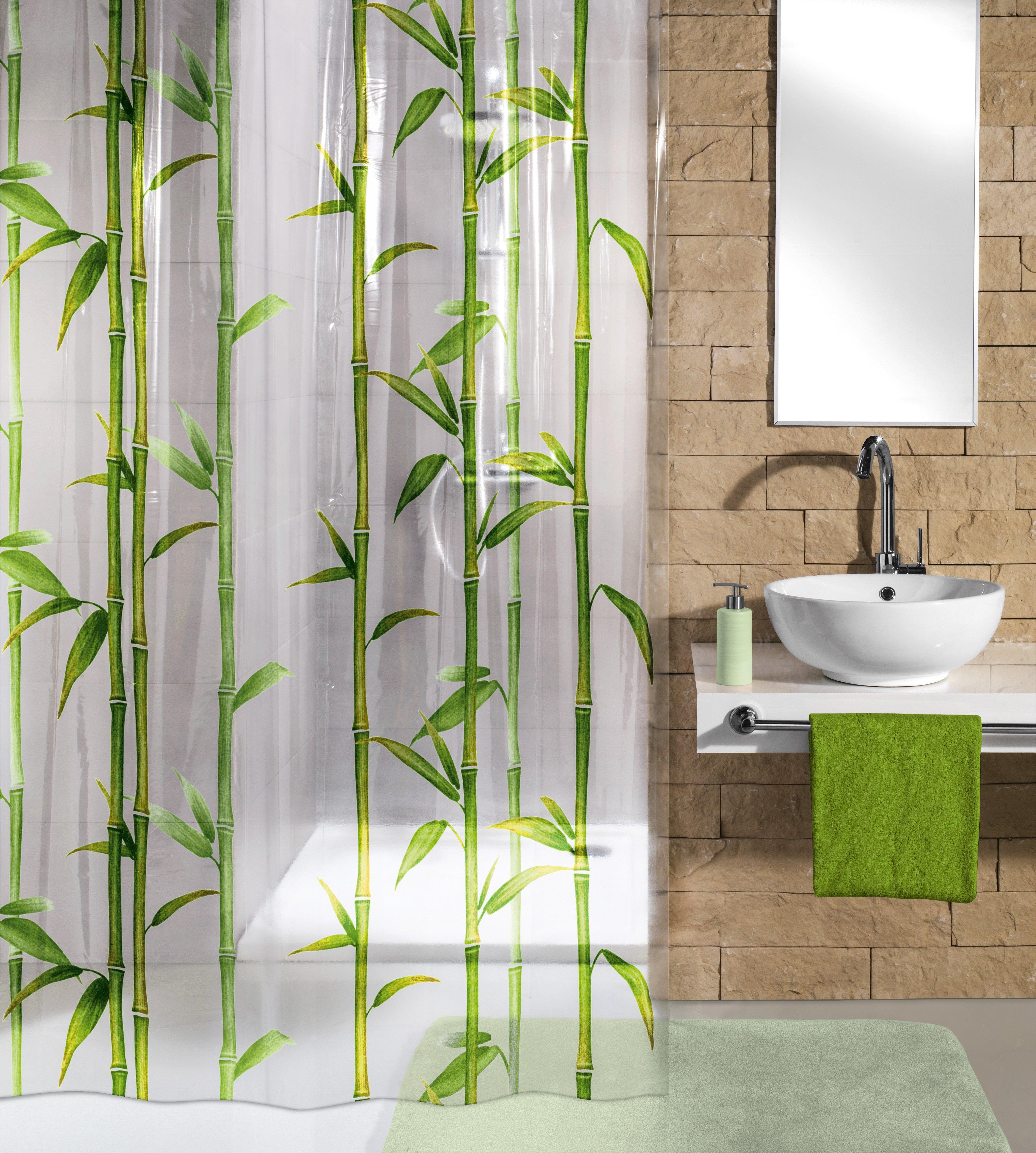 Duschvorhang Bambú Maigrün B:180cm