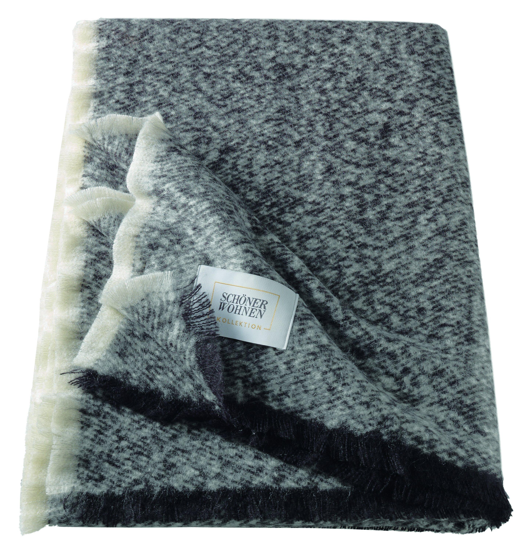 Fluffy Plaid 130x190cm,schwarz