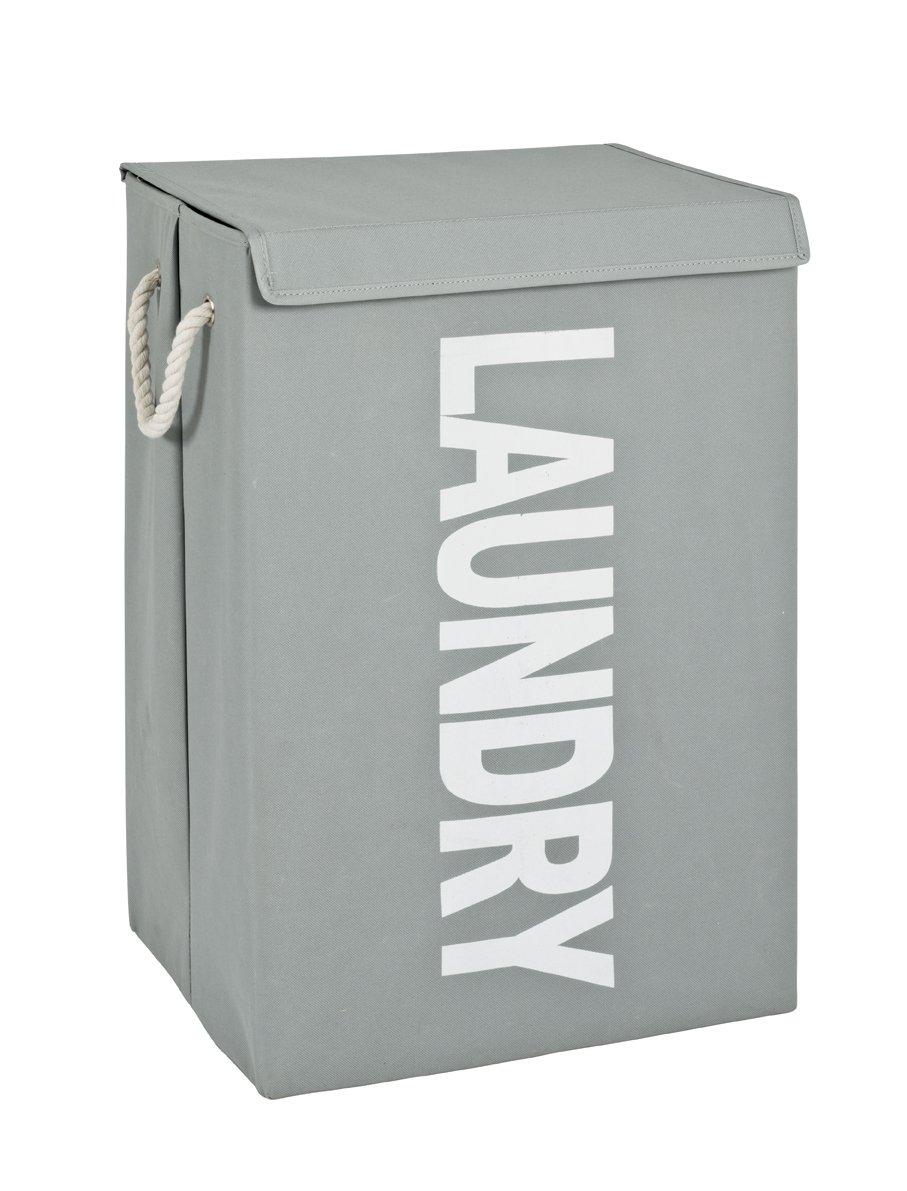 Wäschesammler, grau-weiß, Textilgewebe
