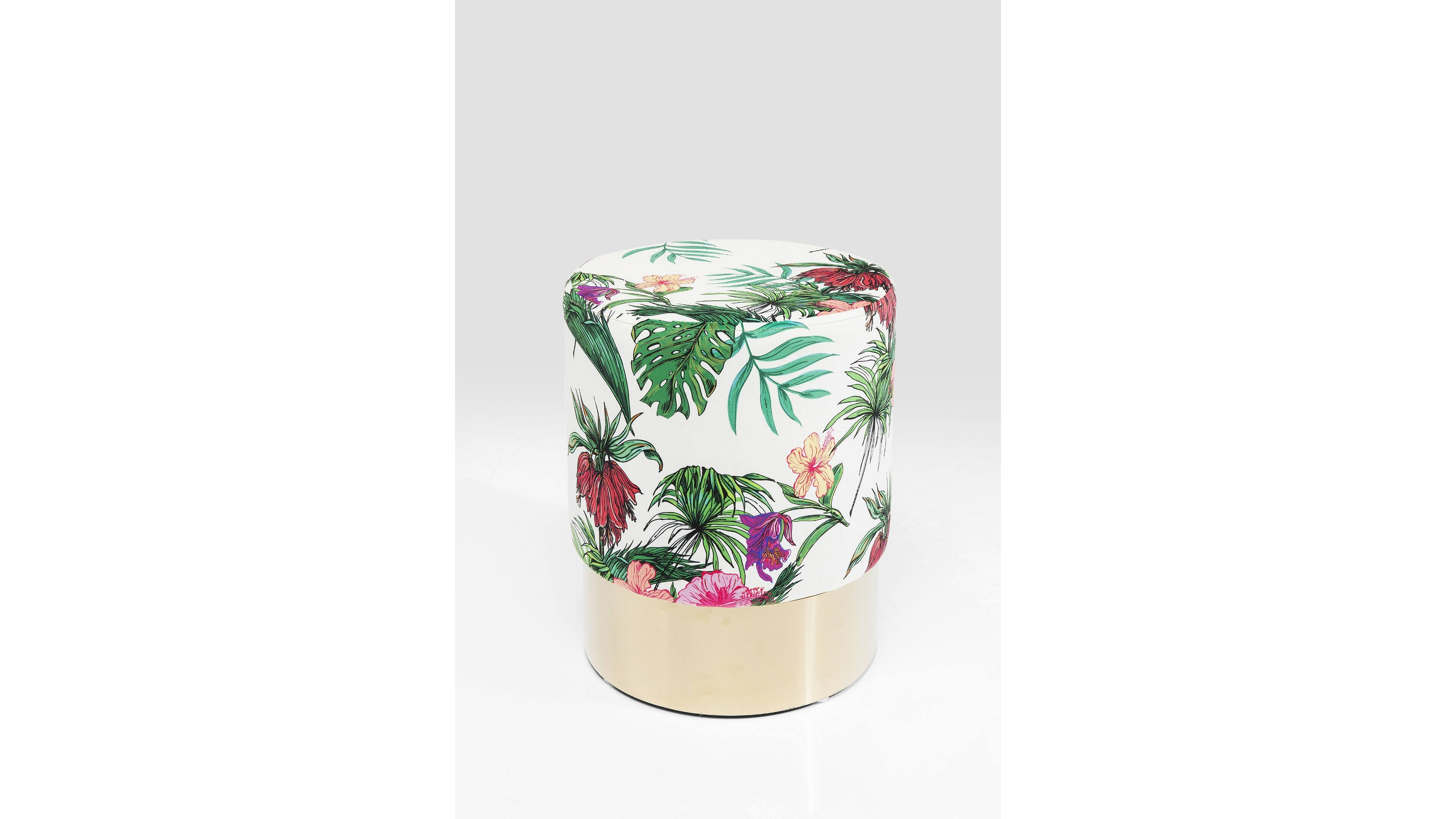 Hocker Cherry Messingfarben Jungle, Messing