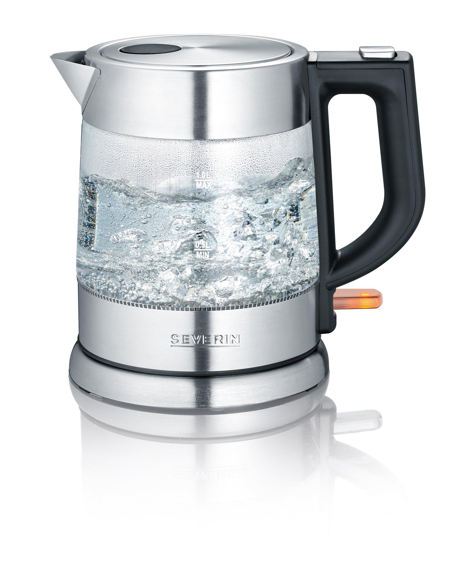 Glas-Wasserkocher Edelstahl-Glas