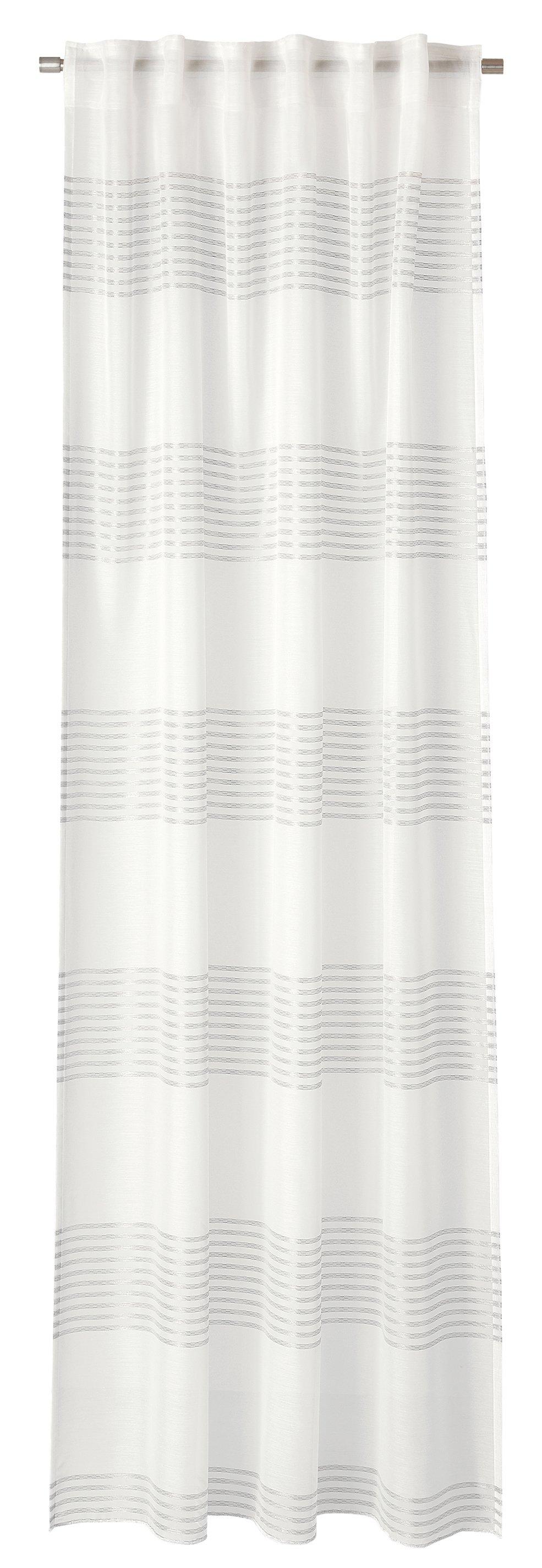 Schal mit Schlaufenband DELIA wollweiß-silber