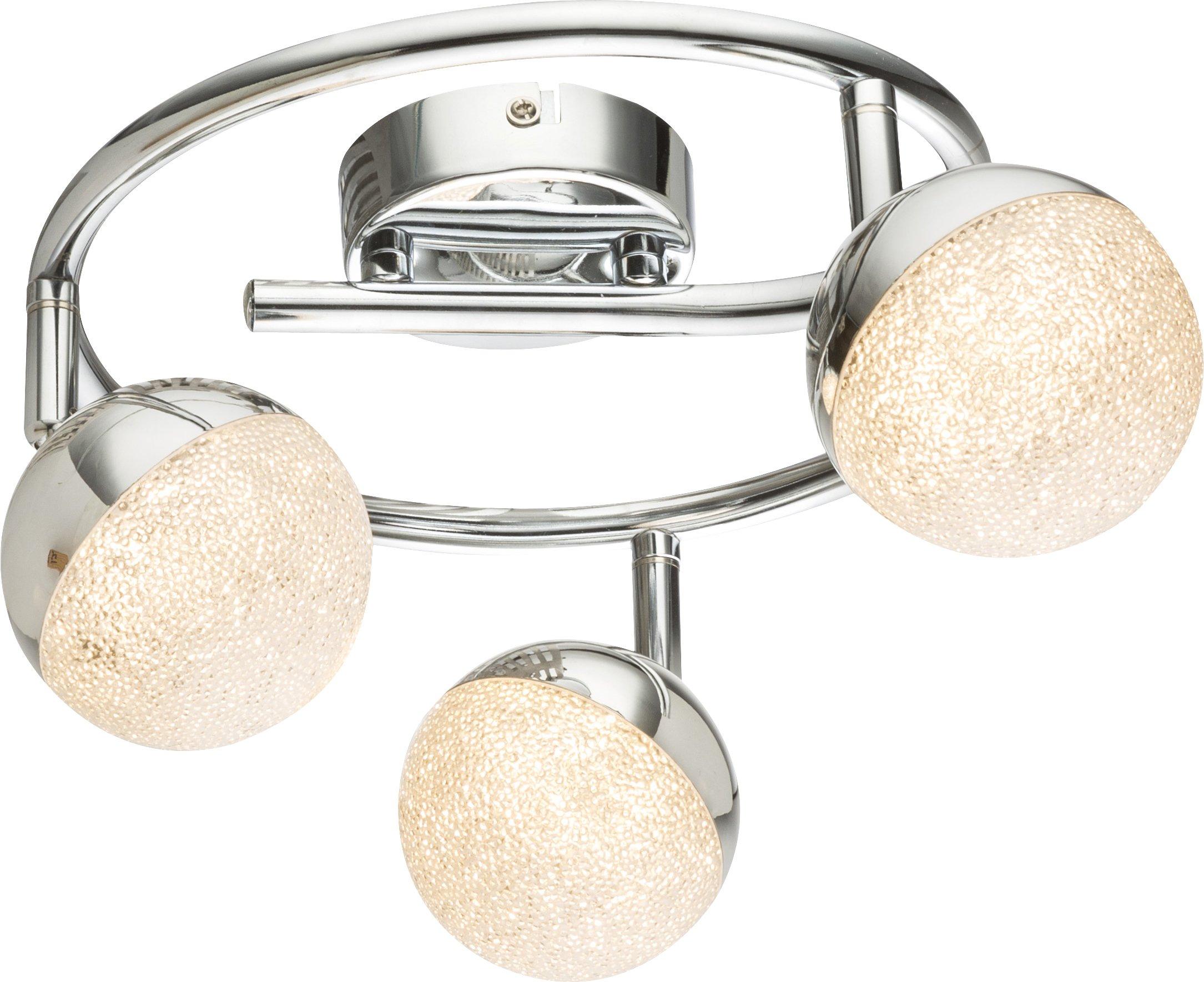 LED Strahler, 3xLED_Chrom, Metallfarben