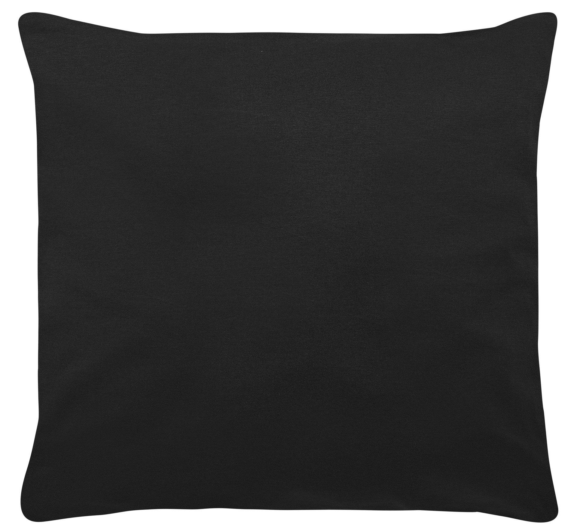 Edel-Zwirn-Jersey schwarz B40cm