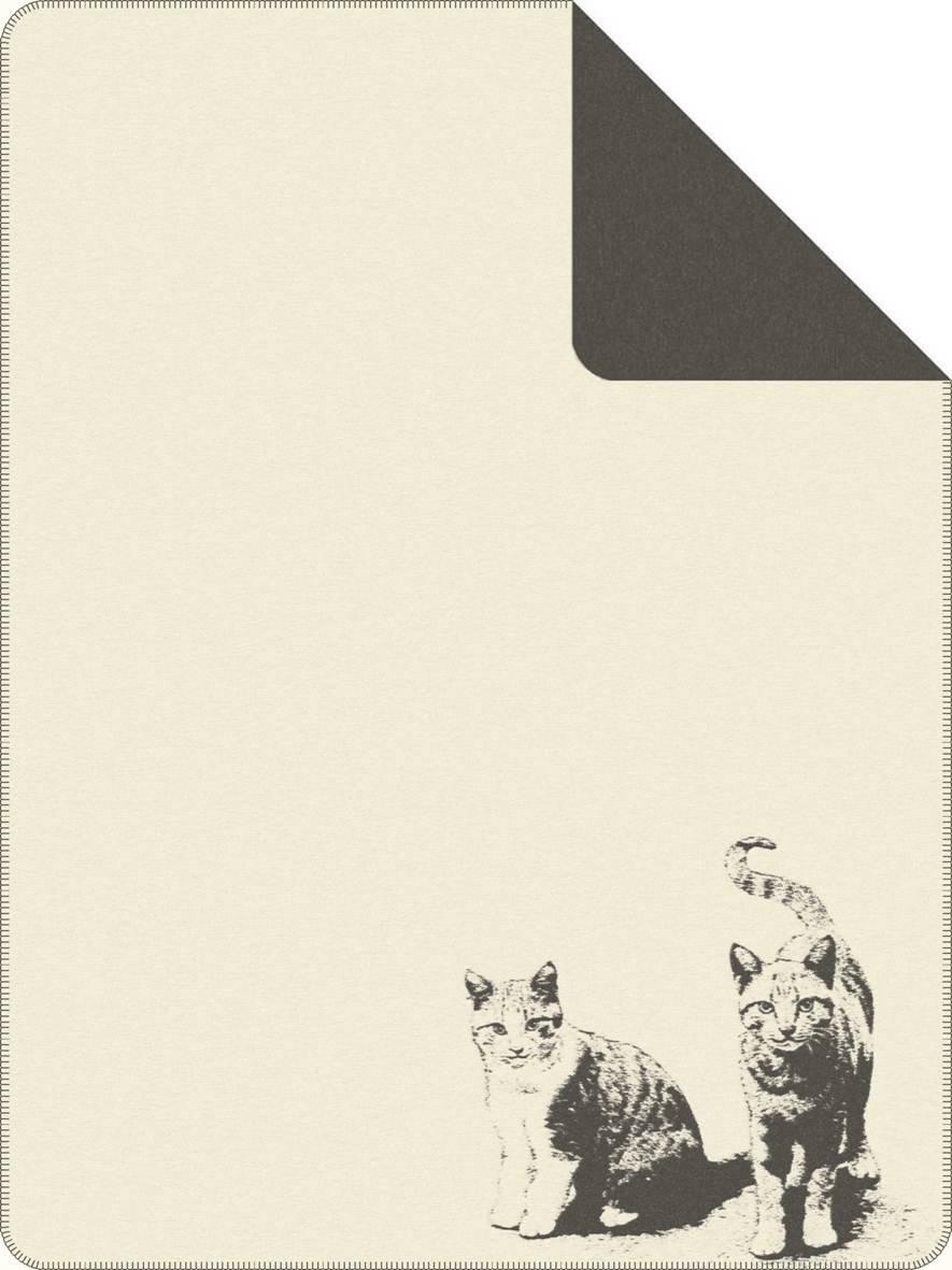 Jacquard Decke Tierisch Gut Weiss-D.Grau 150x200 cm
