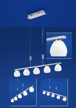 LED-Pendelleuchte, 5-flammig, B80,