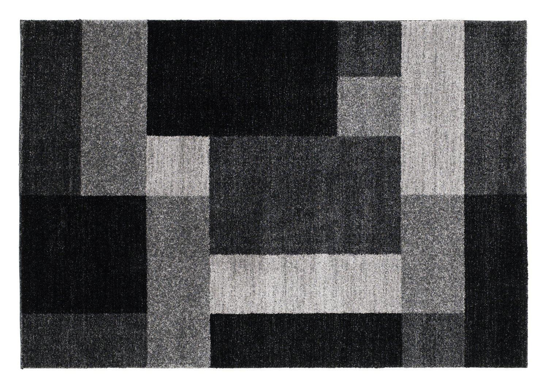 moderner Designer Teppich VILLA LIMA grau
