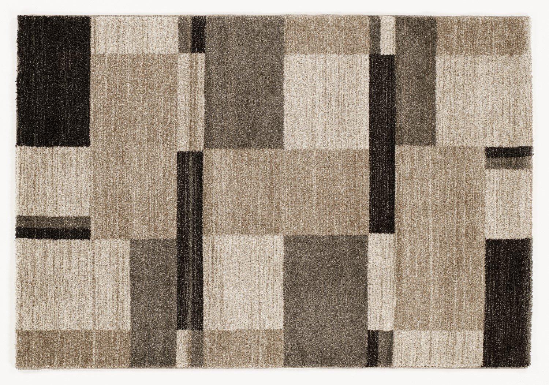 moderner Designer Teppich Öko-Tex CASTLE BEPPO beige-braun