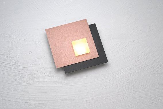 Deckenleuchte PIXEL 2.0, schwarz gepulvert, Aluminium geschliffen