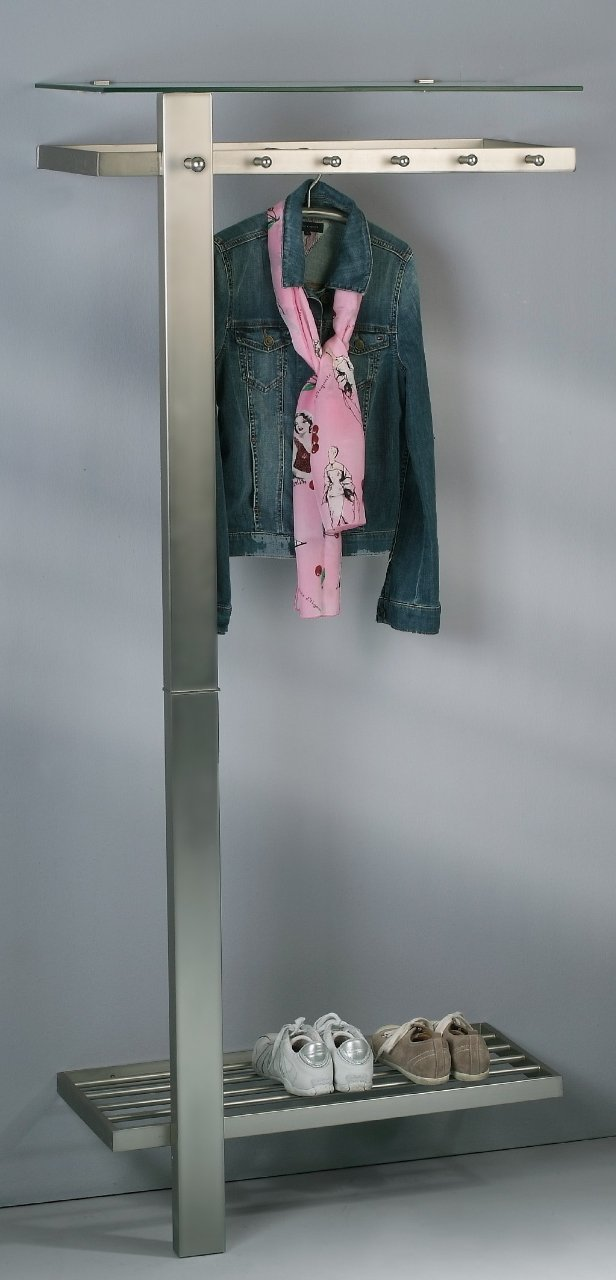 Garderobe Vitos Silberfarben