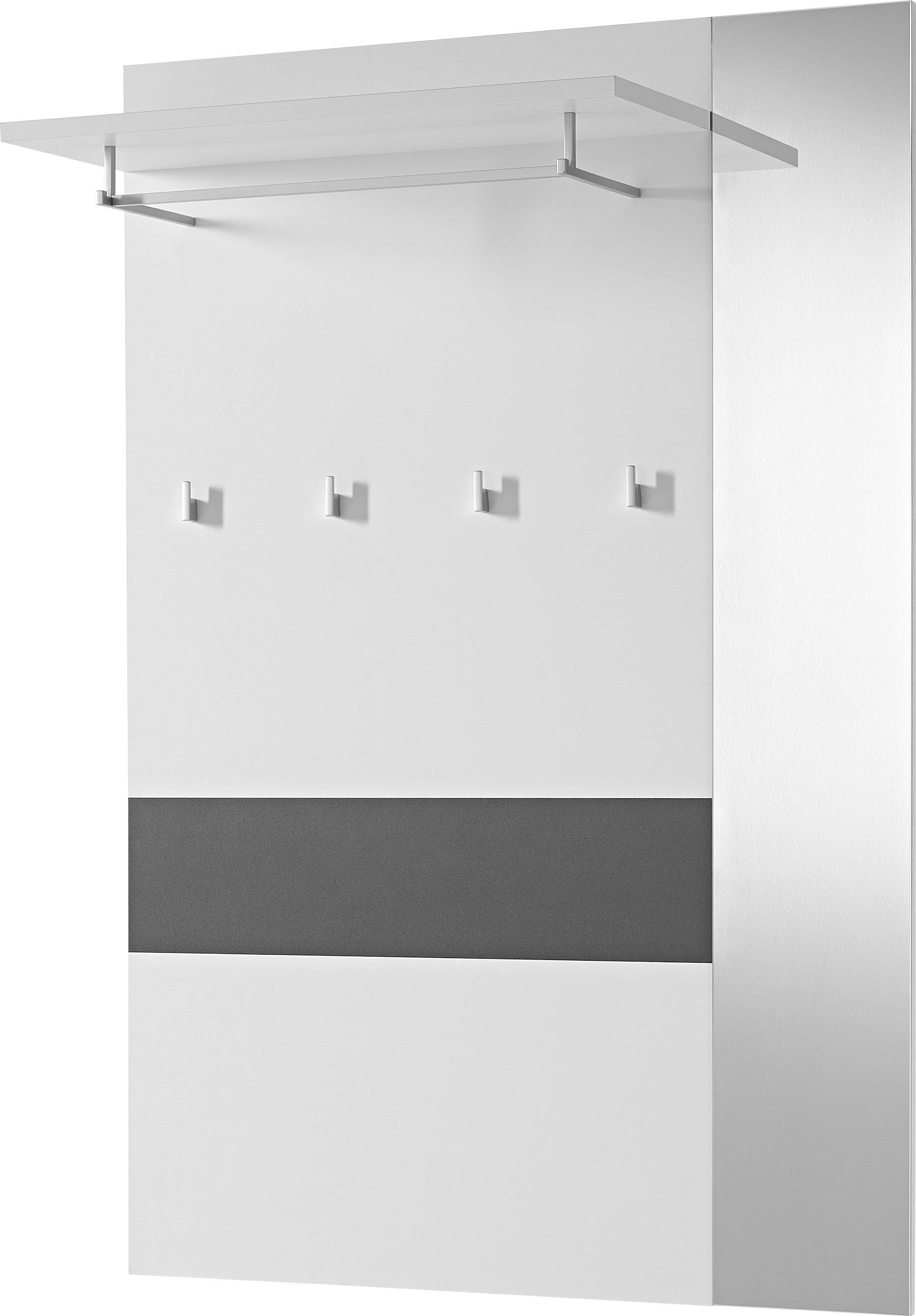 Wandgarderobe Alameda Weiß