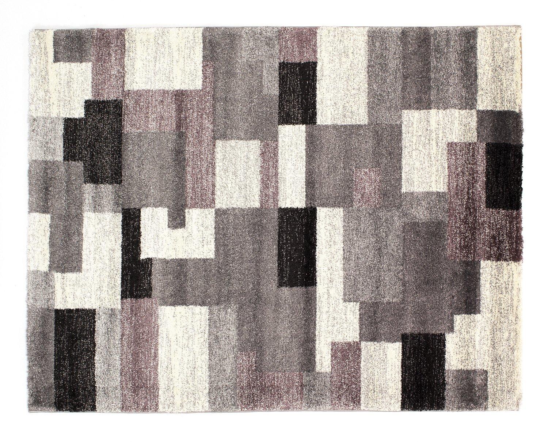 moderner Designer Teppich Öko-Tex STEADY ALLOVER grau-flieder