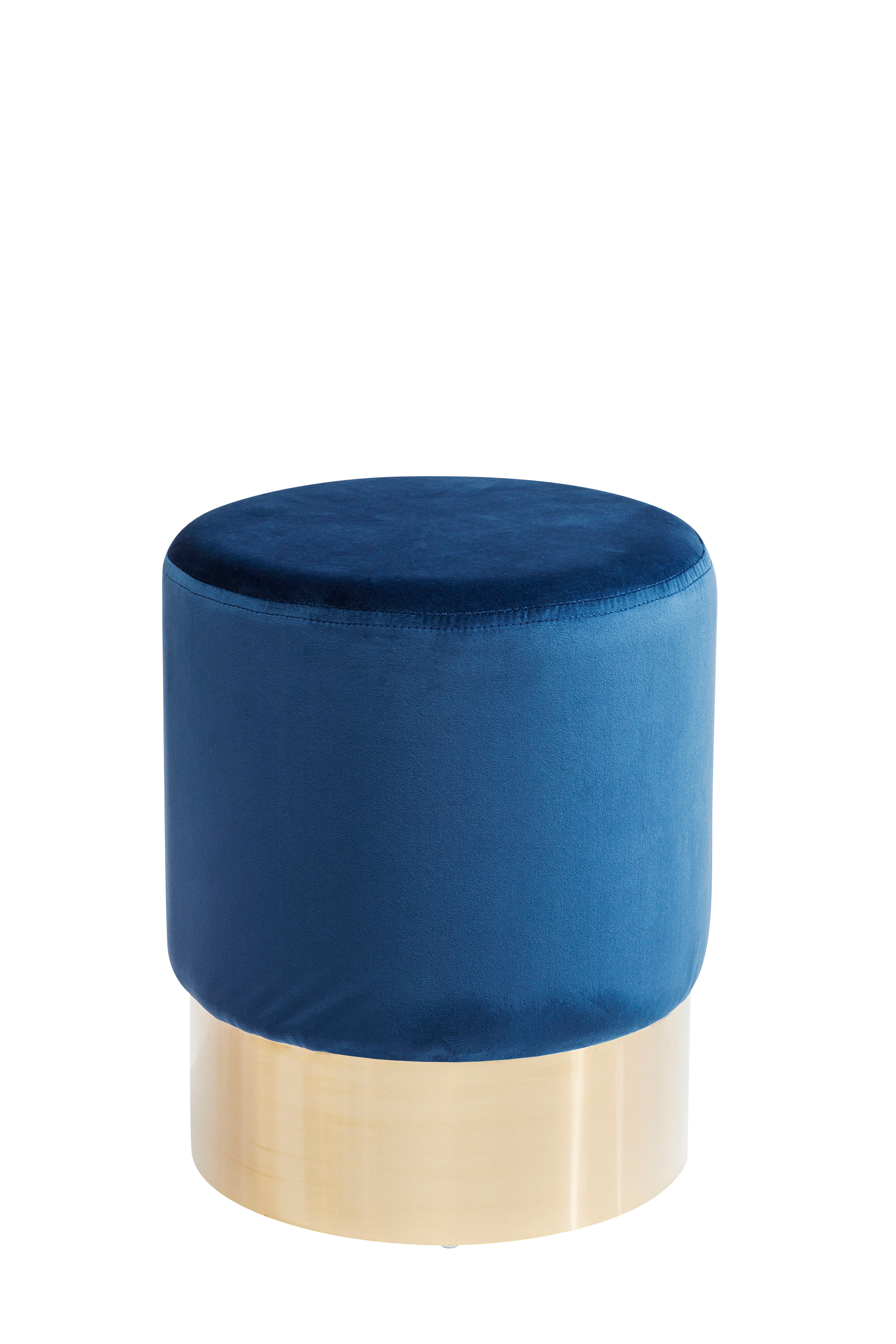 Hocker Cherry Blau Brass  Ø35cm