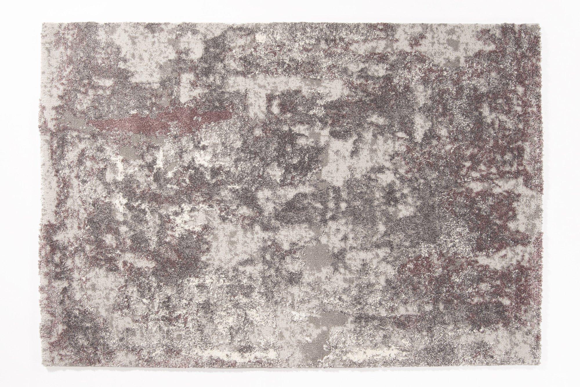 weicher Shaggy Hochlor Langflor Teppich JUWEL LIRAY aubergine-beige