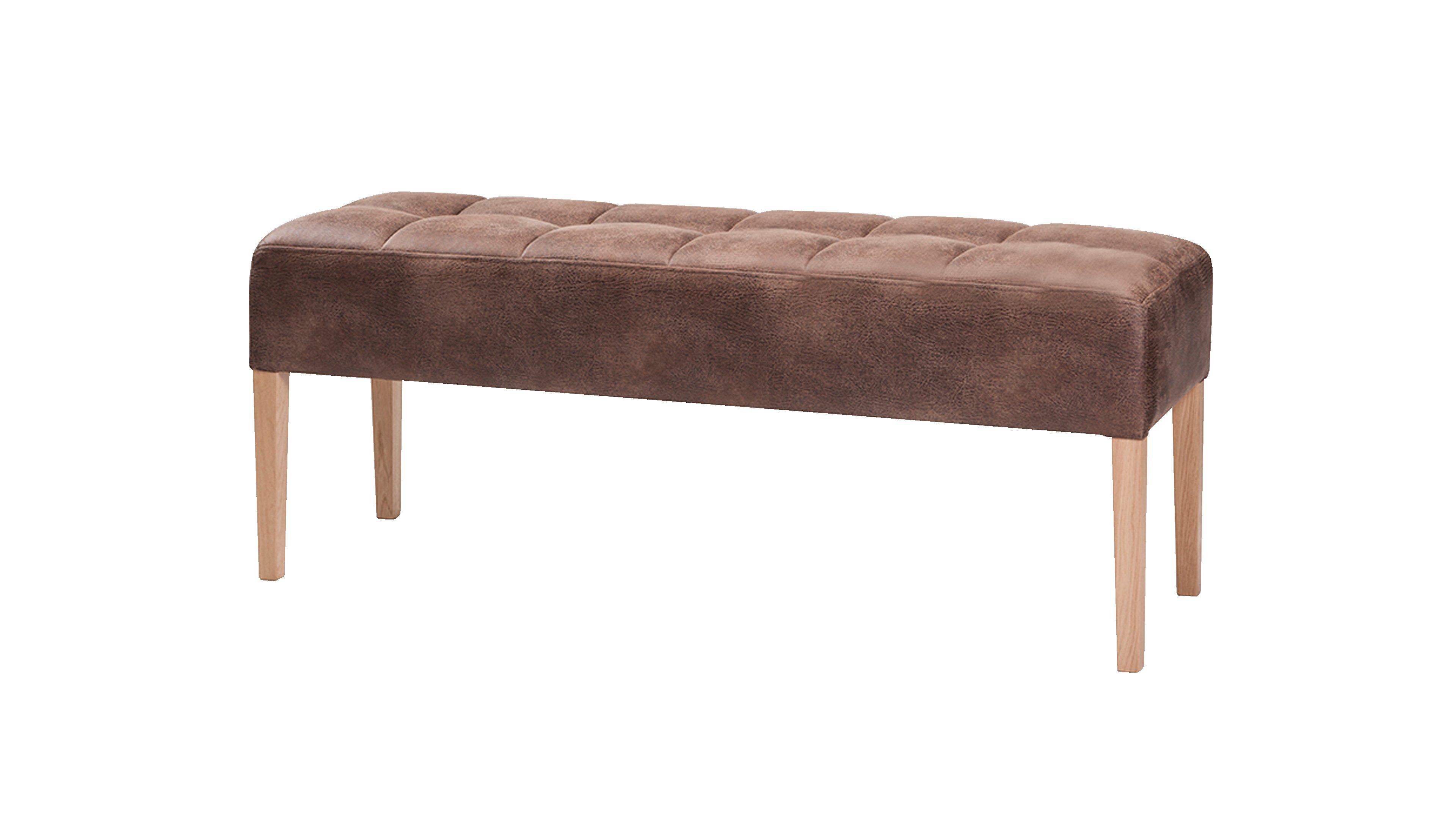 Sitzbank Marino Bench Holz/Eiche,Kunstfaser (Chemiefaser),KunstfaserChemiefaser/Polyester (PES),Stoff