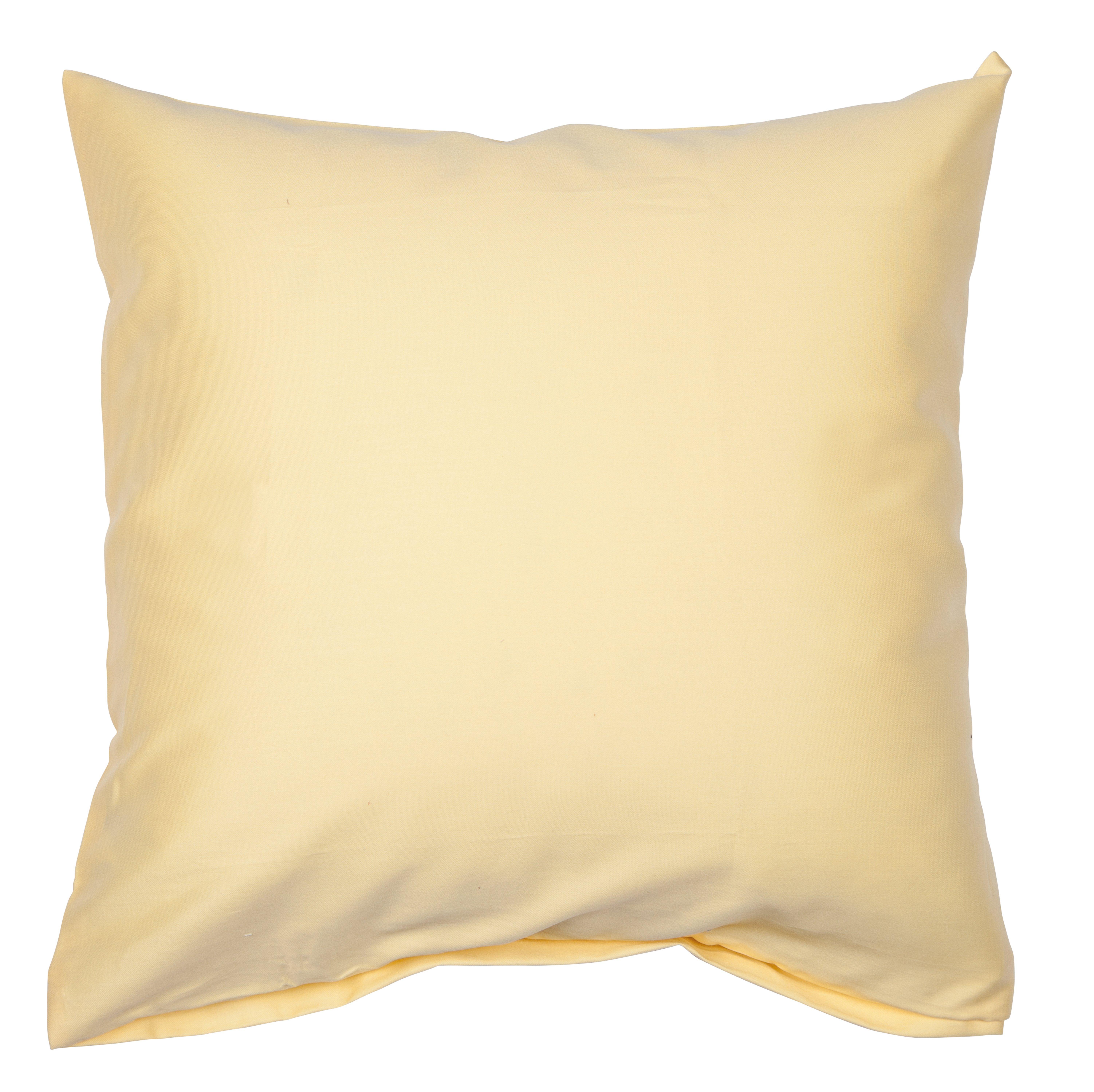 Colors Mako-Satin K.-Bezug 80x80cm gelb