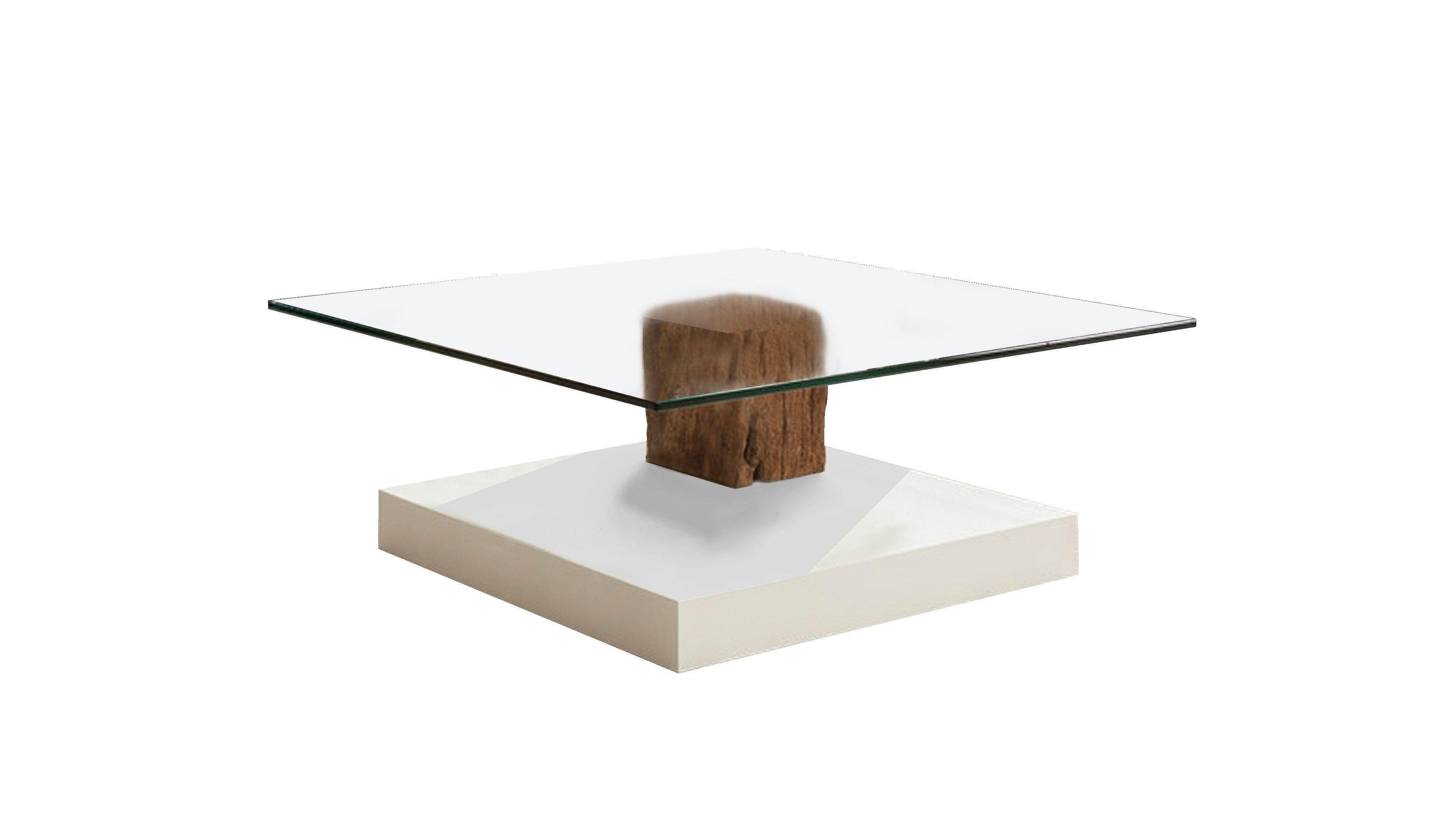 Couchtisch 4400-2419 Bodenplatte Lack weiss matt
