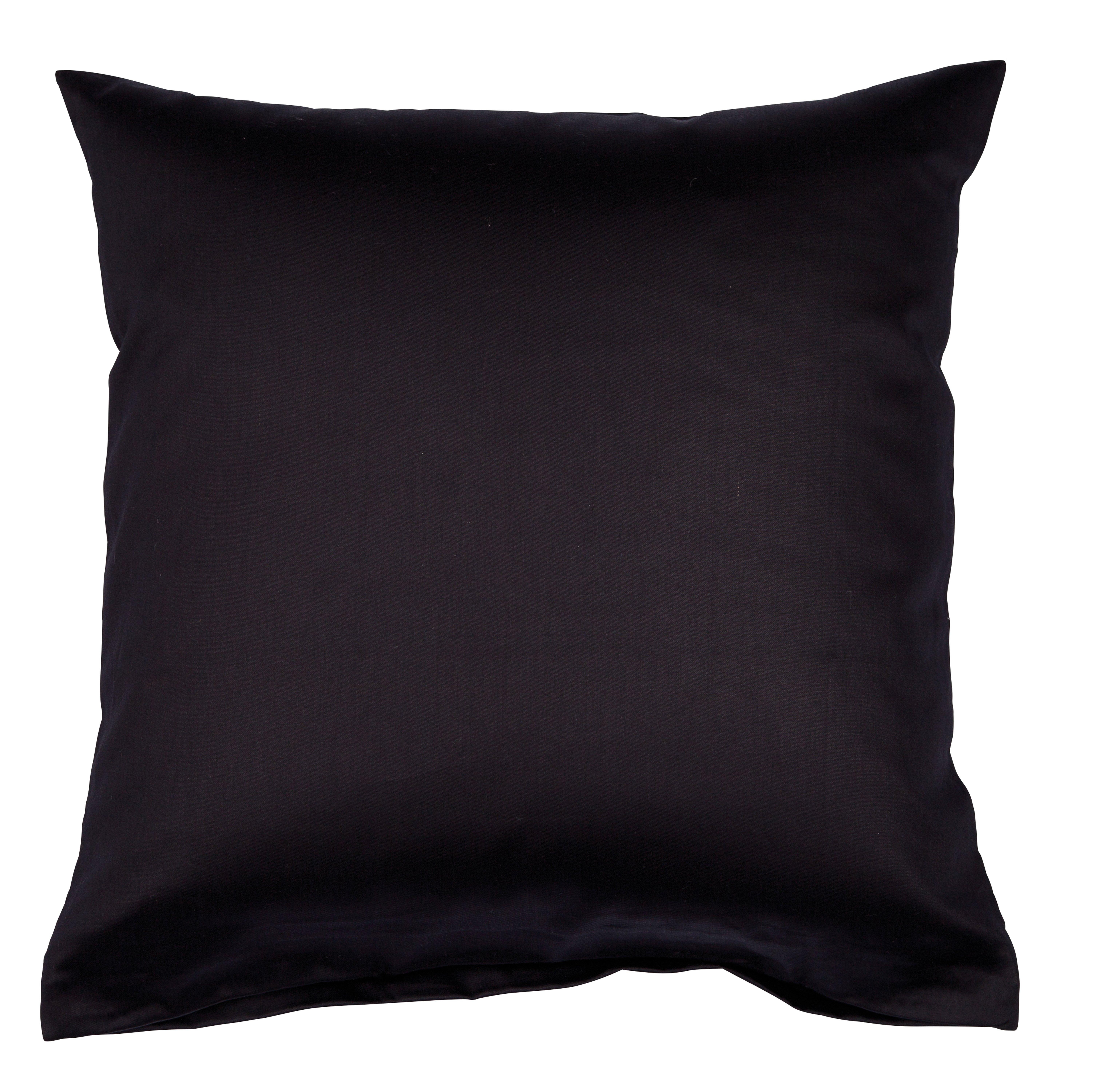 Colors Mako-Satin K.-Bezug 80x80cm schwarz