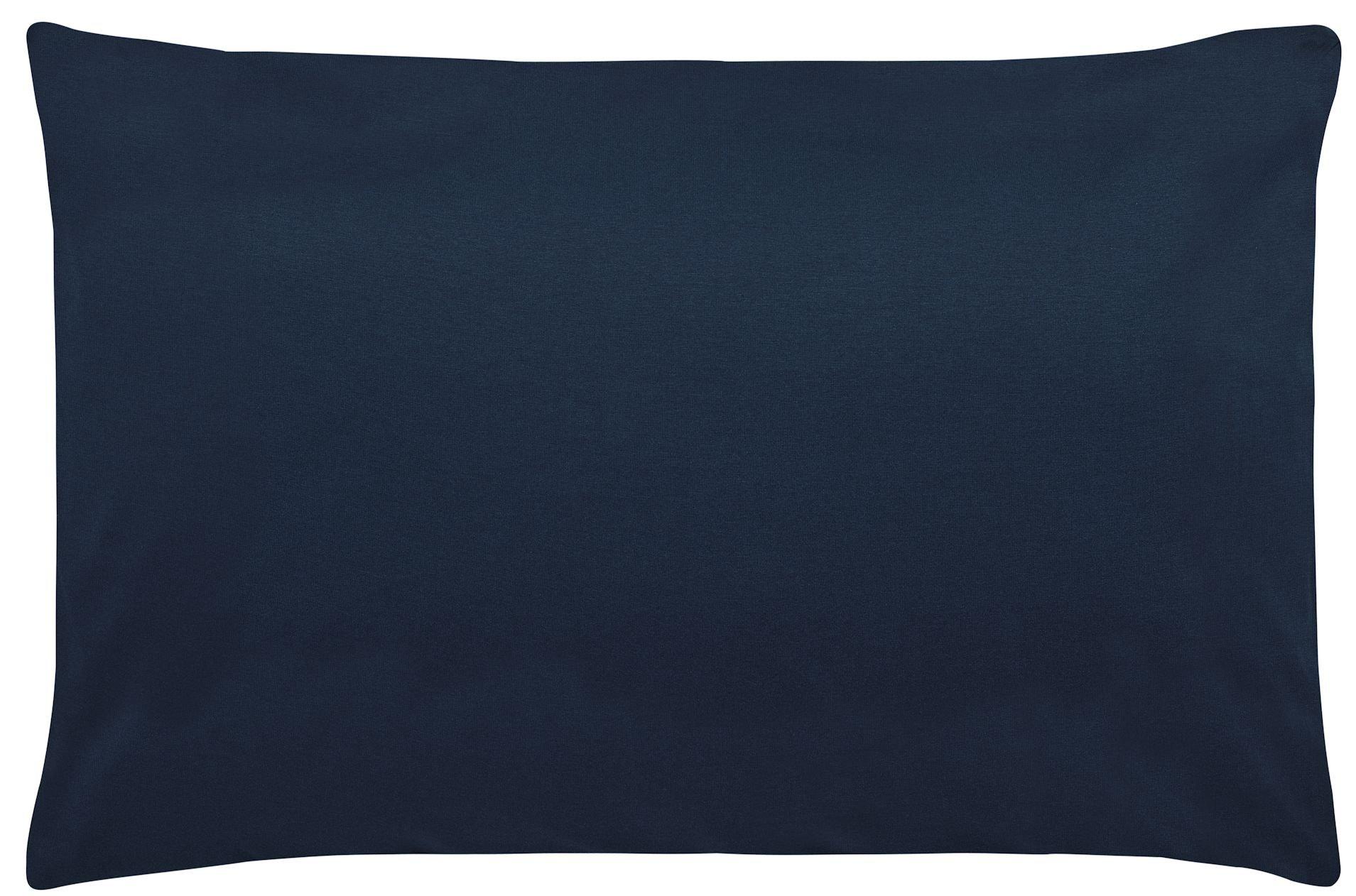 Edel-Zwirn-Jersey marine B40cm