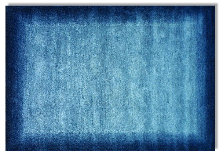 echter original handgeknüpfter Nepal-Teppich VINCIANO TAMI blau