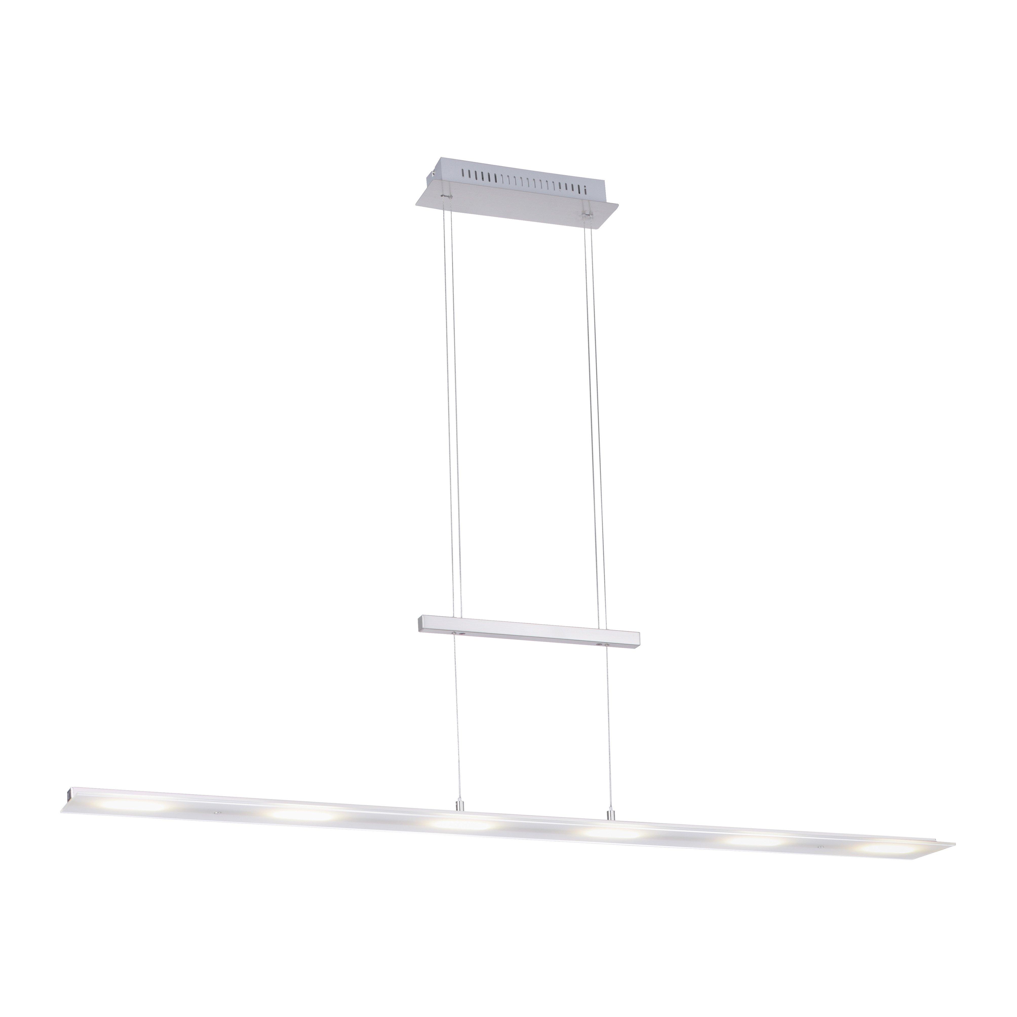 LED Pendelleuchte Nele | Mattglas/Met.Eisen stahl