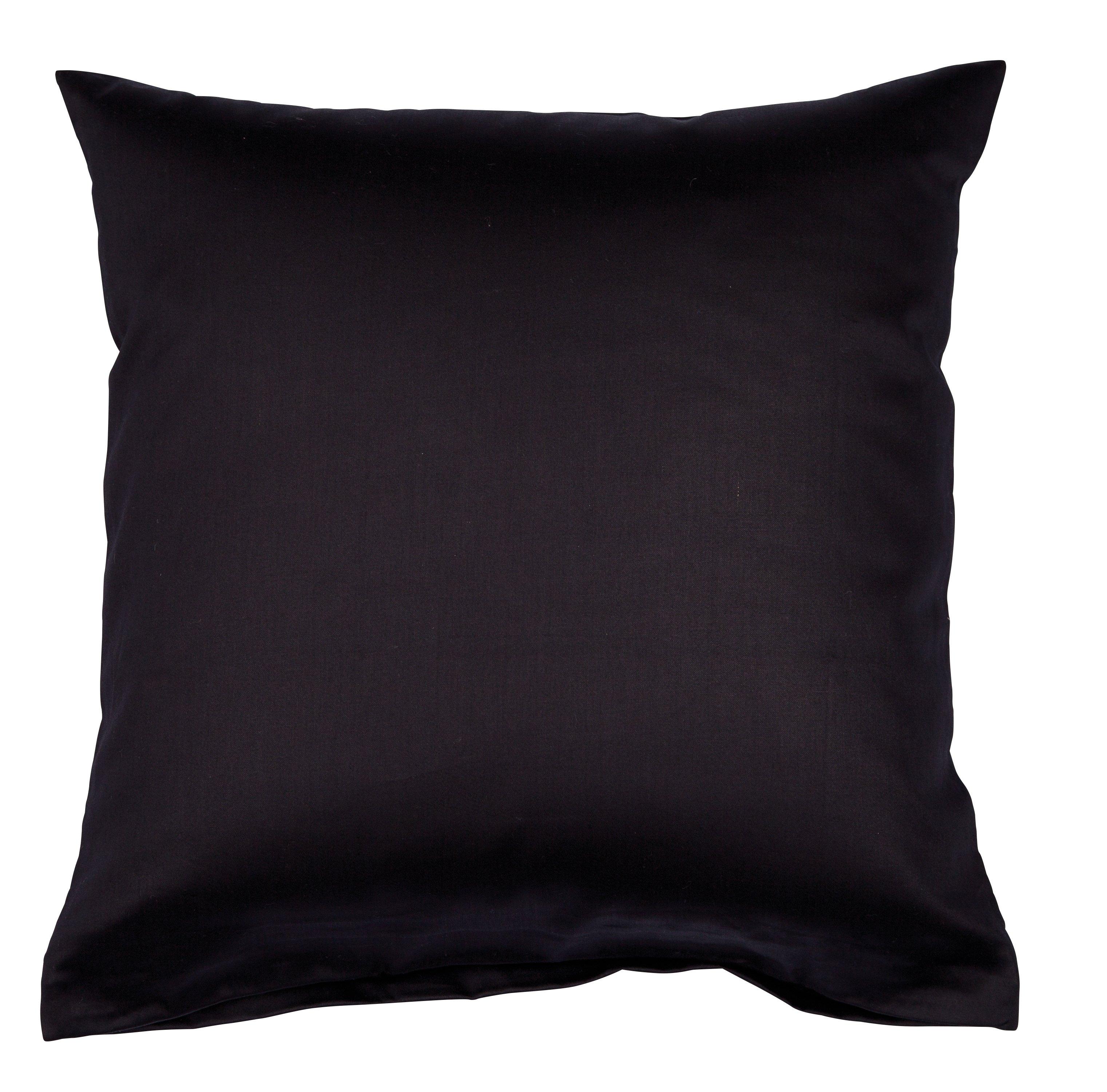 Colors Mako-Satin K.-Bezug 40x40cm schwarz
