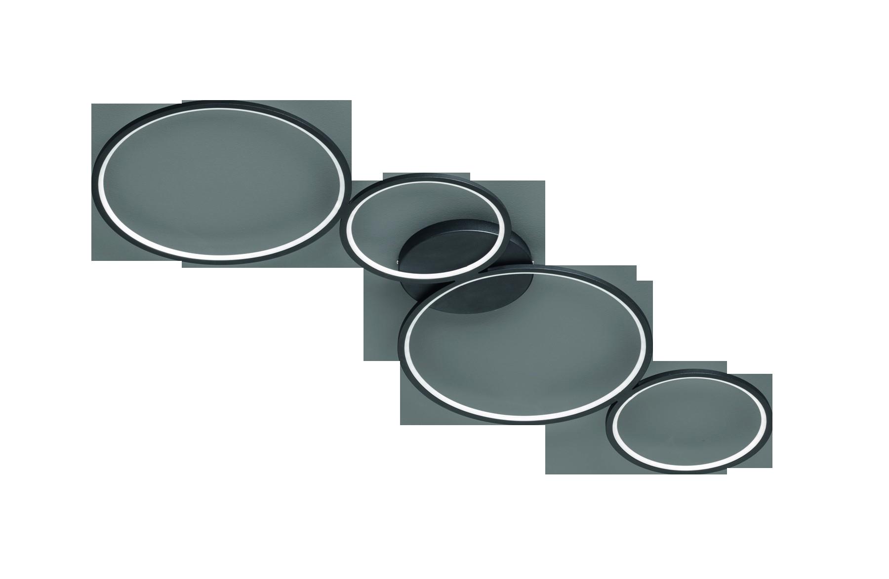 Deckenleuchte Rondo schwarz matt Metall