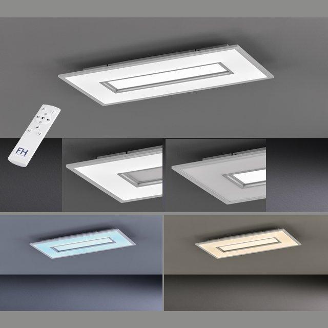 Deckenleuchte Tiara, Grau | Weiß