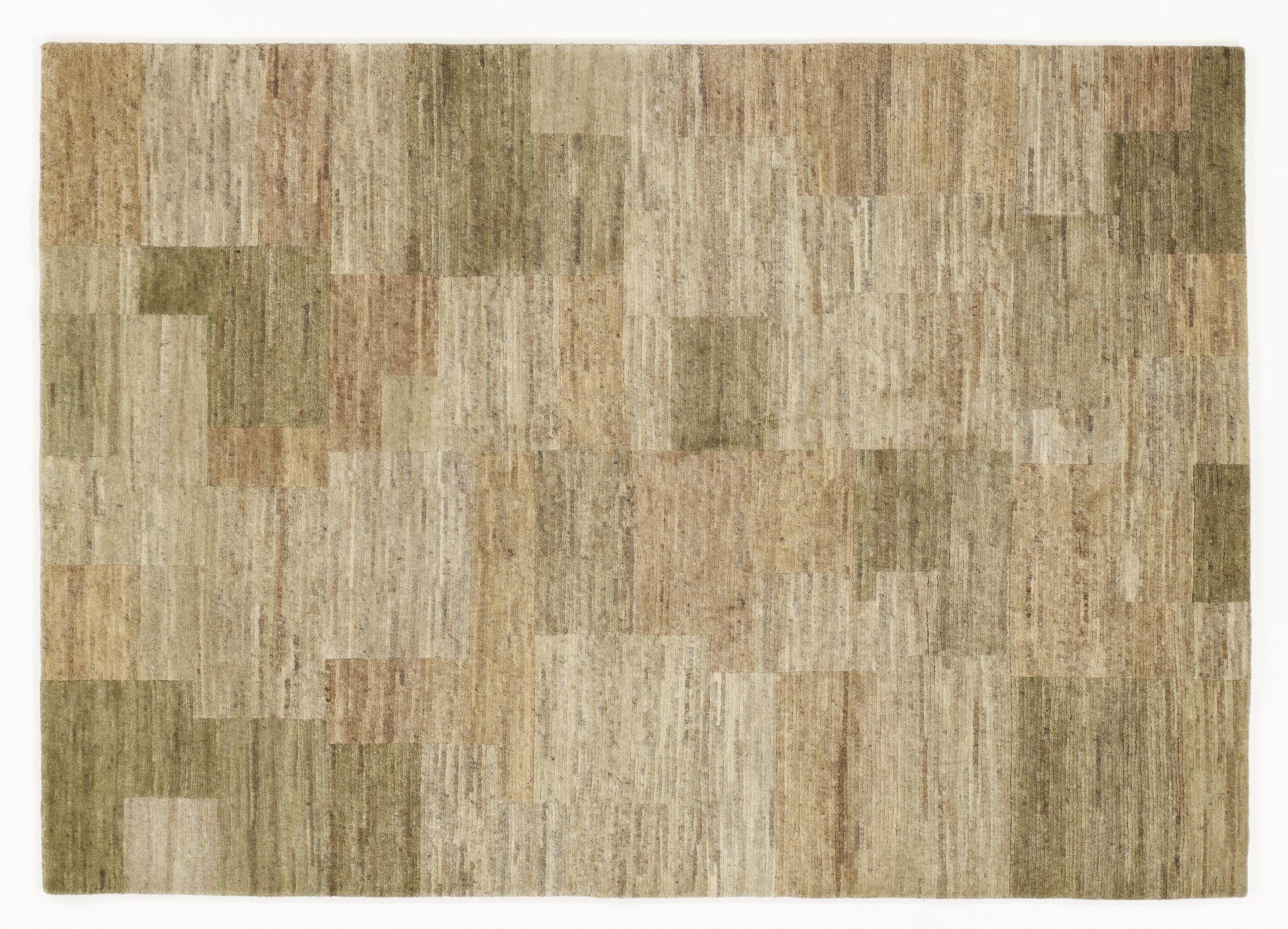 echter original handgeknüpfter Nepal-Teppich ELEGANT NEW LIMA serengeti