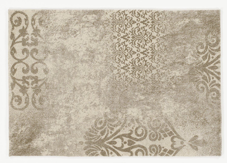 moderner Designer Teppich MONTE TREND creme-beige