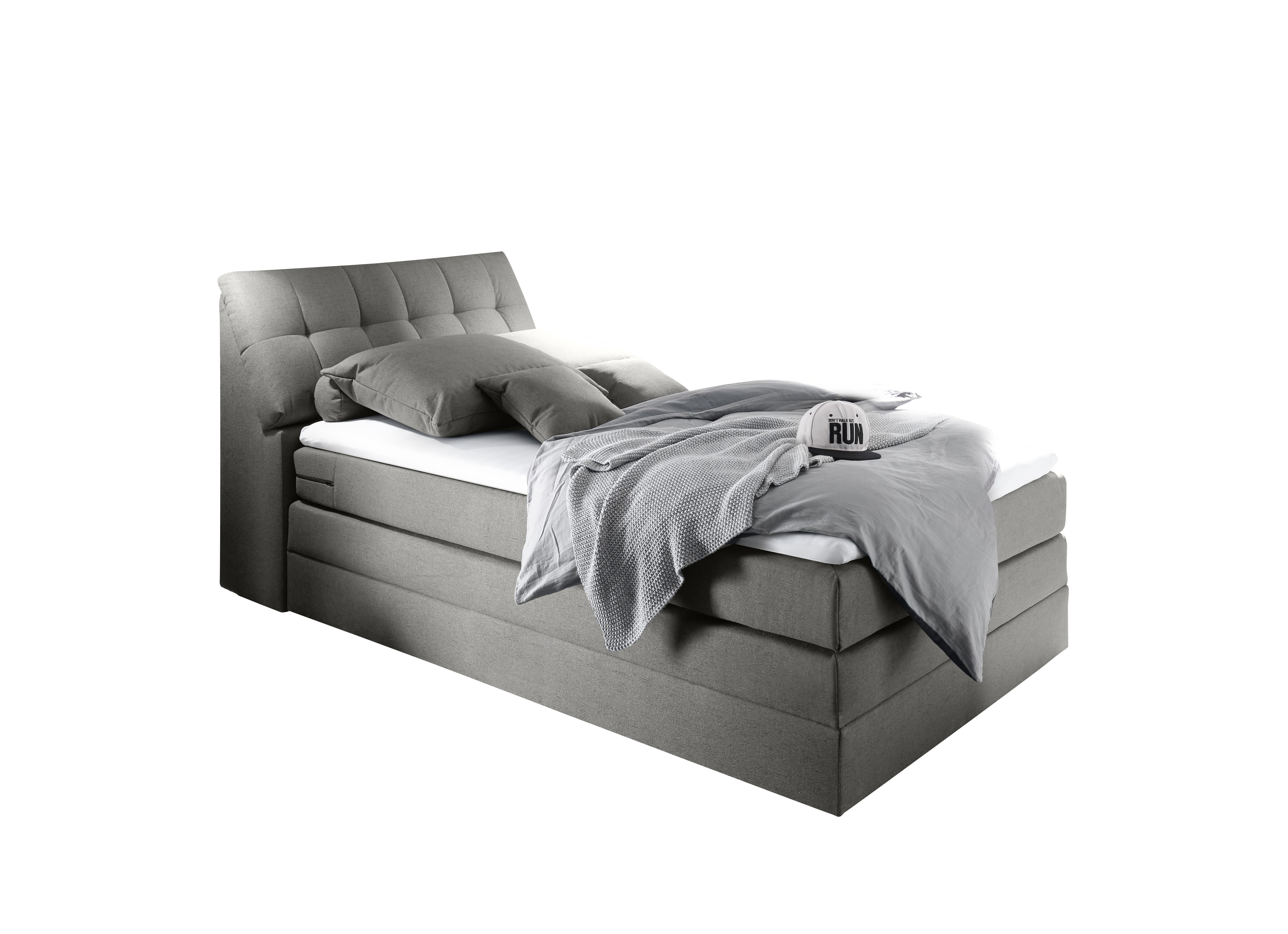 Boxspringbett Space grey 100% Polyester
