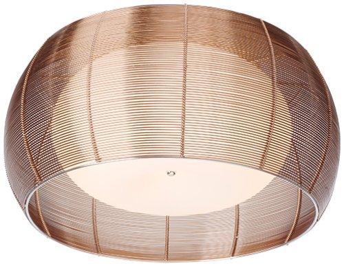 Deckenleuchte 2flammig H26,00 D50,00, bronze/chrom