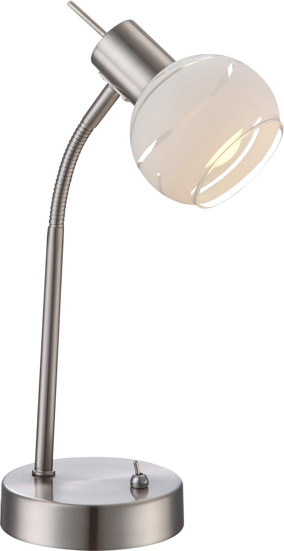 LED-Tischl.1flg. H34_Metall, Metallfarben