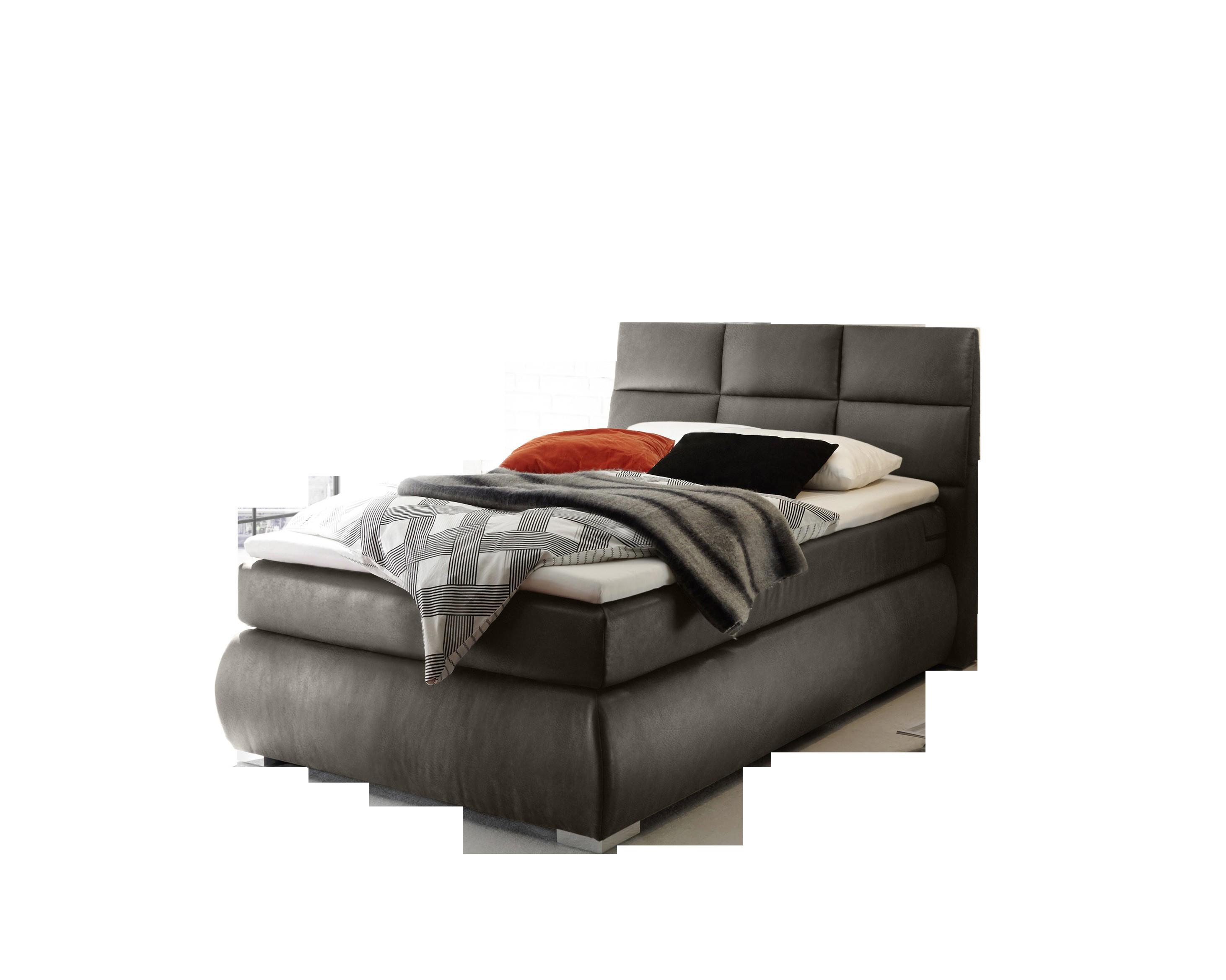 Boxspringbett Kosali grey 100% Polyester