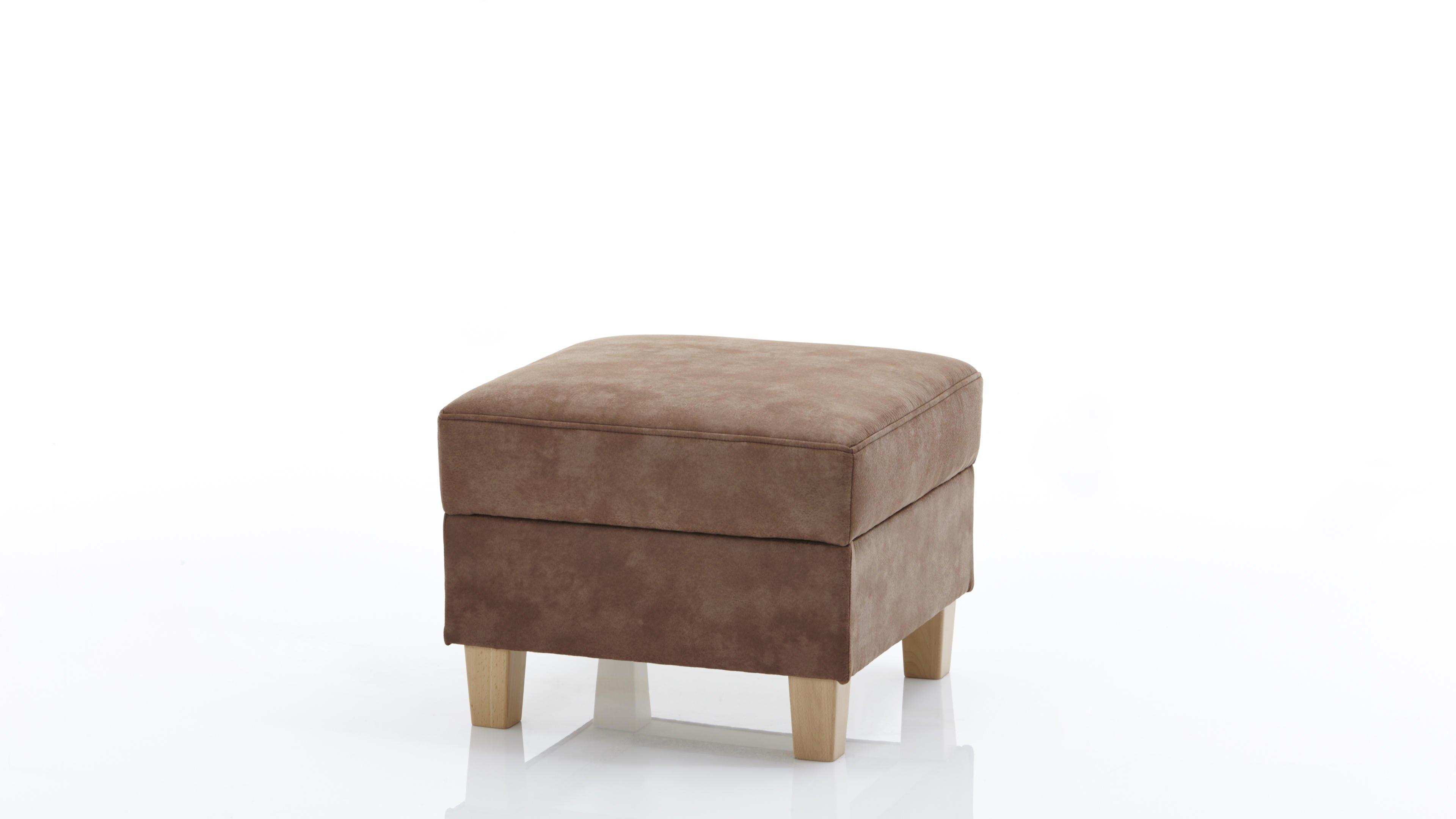 Hocker Else Plus Holz/Buche,Kunstfaser (Chemiefaser),Leder