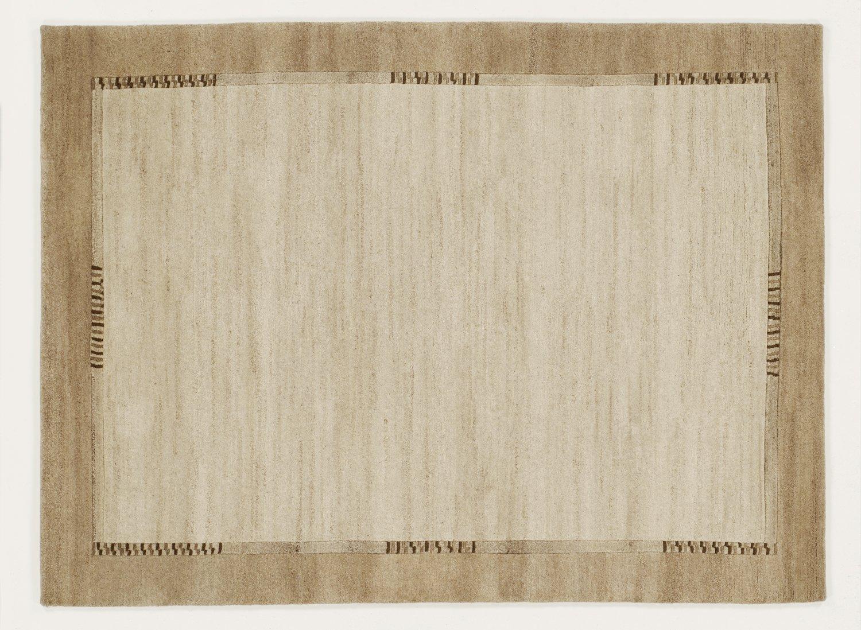 handgeknüpfter Nepal-Teppich Wolle JOWEA NATUR EMOTION beige-natur