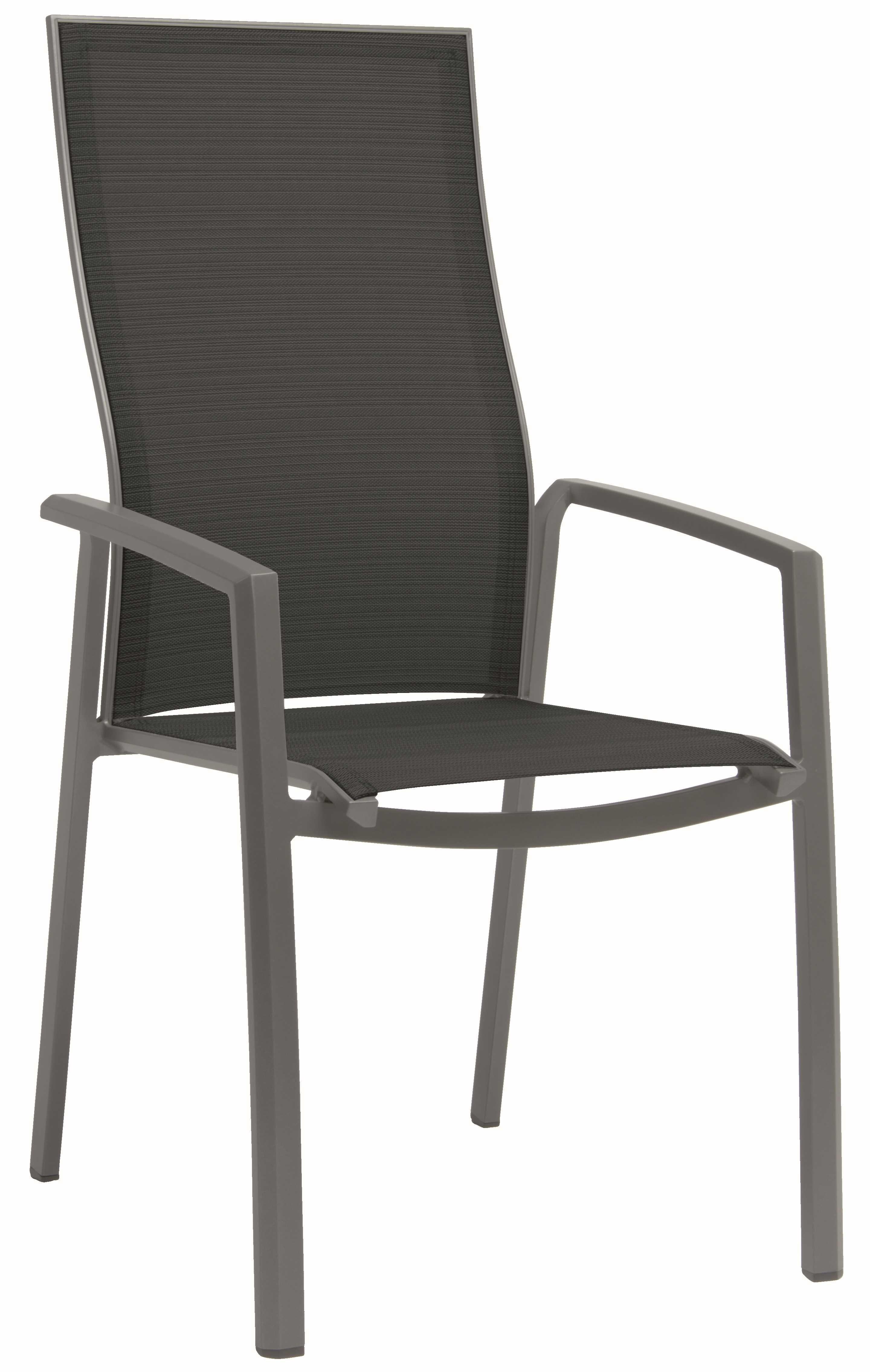 Sessel Stapelsessel Kari hohe Rückenlehne Aluminium