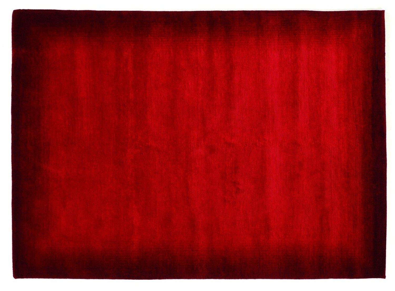 echter original handgeknüpfter Nepal-Teppich VINCIANO TAMI dk.rot