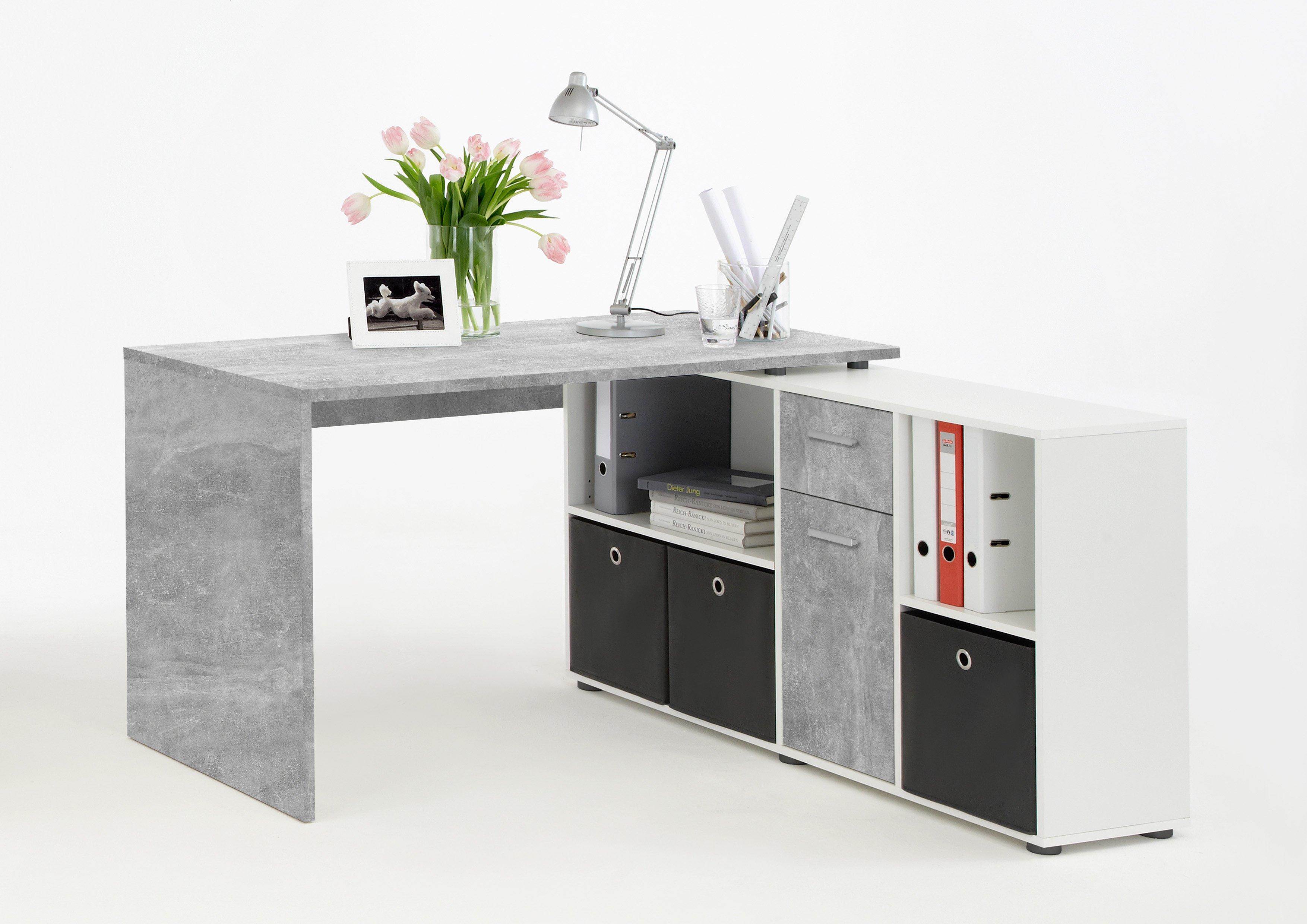 Melamin harzbeschichtete Dekorspanplatte LEXO/LEX Beton LA/weiß