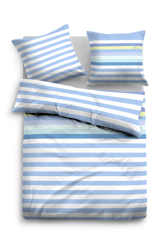 Tom Tailor Linon Bettwäsche 155x220cm lichtblau